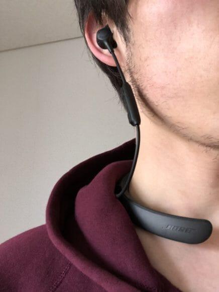 BOSE「QuietControl 30 wireless headphones」のコードの長さが絶妙