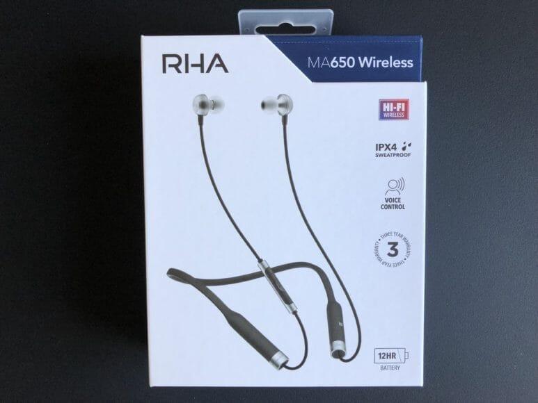 RHA MA650の商品パッケージ