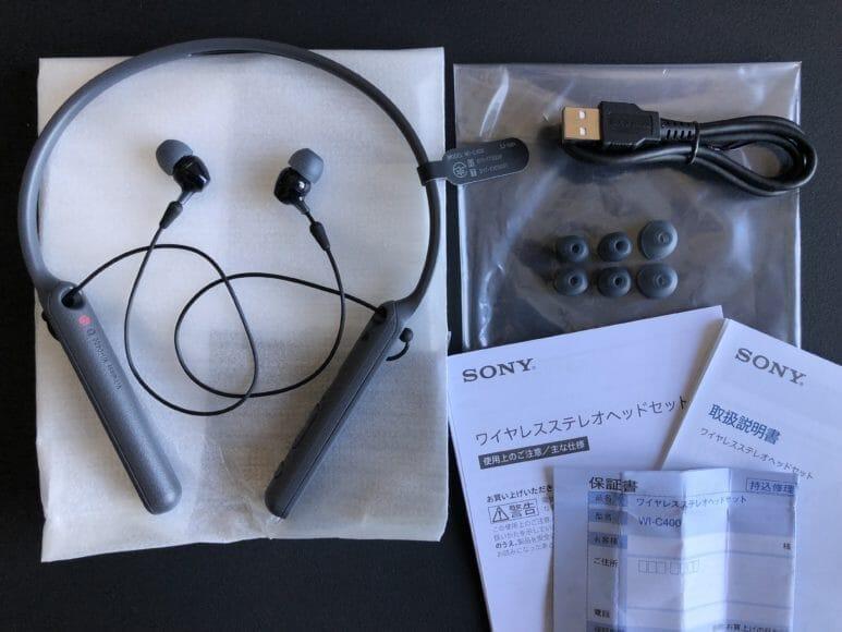 SONY「WI-C400」の付属品