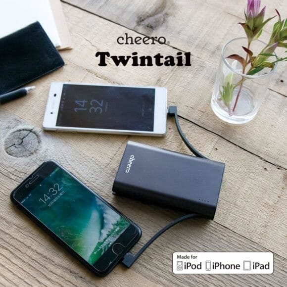 cheero「Twintail 10050mAh (CHE-089)」公式の製品画像6