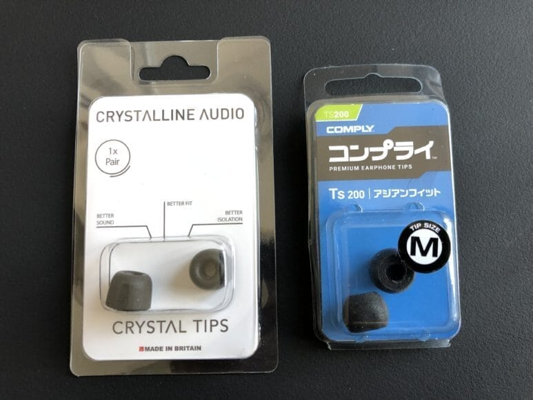 クリスタルラインオーディオ「クリスタルチップス」とコンプライ「Ts-200」を比較してみました。