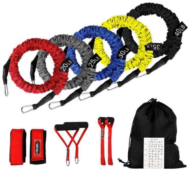 腹筋をバキバキに割るおすすめトレーニング器具:WEINAS トレーニングチューブ