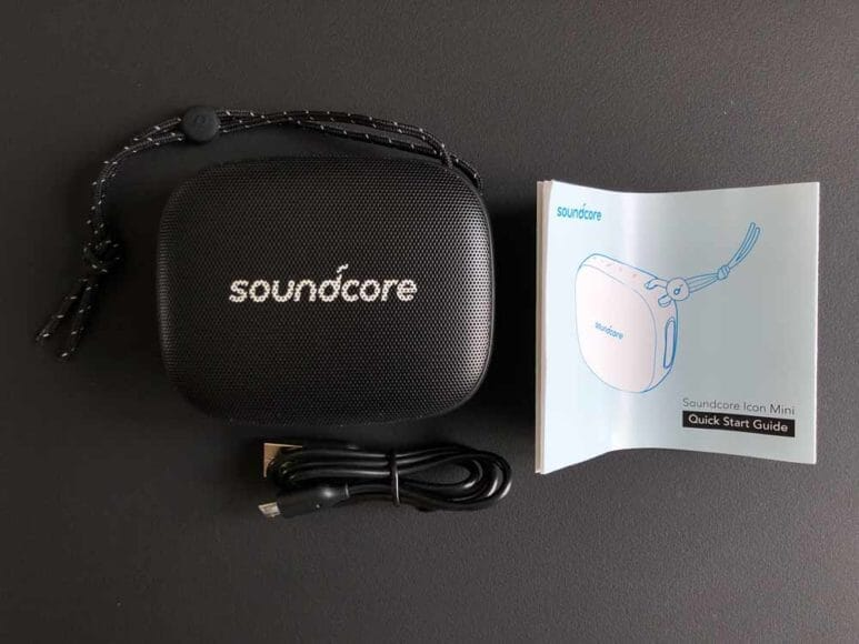 Anker「Soundcore Icon Mini」の付属品。