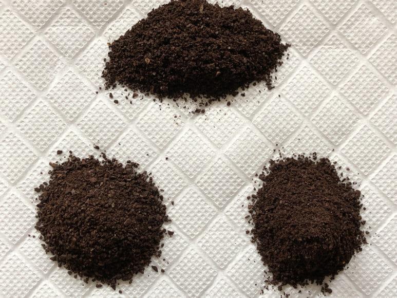 おすすめ手動コーヒーミル:キャプテンスタッグ|キャプテンスタッグ・ポーレックス・カリタ「ナイスカットG」で挽いたコーヒー豆。