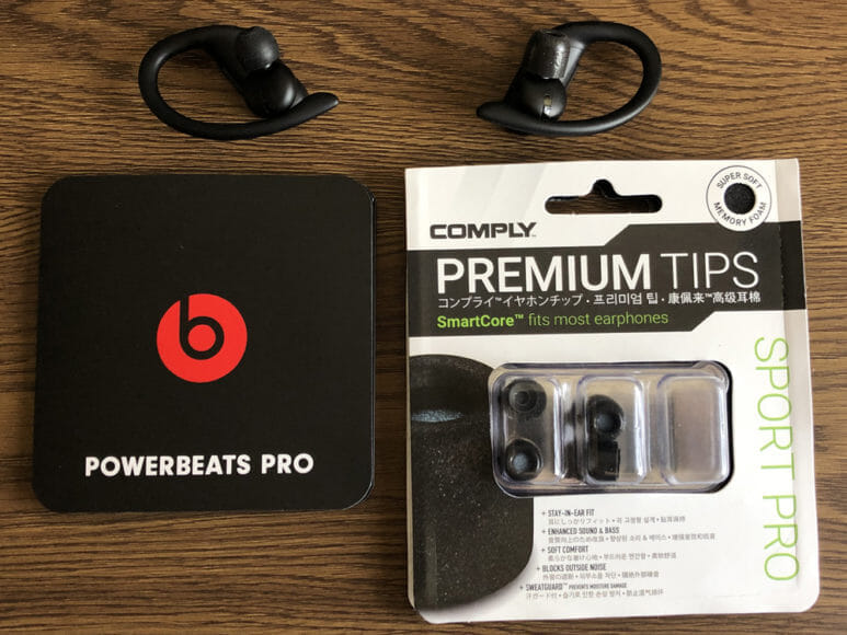 コンプライ製おすすめイヤーピース「SPORT PRO」レビュー|「Powerbeats Pro」純正シリコン製イヤーピースとコンプライ「SPORT PRO」を比較してみました。