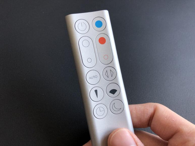 ダイソン「Pure Hot+Cool Link(HP03)」|リモコンの使い方は非常にシンプルです。