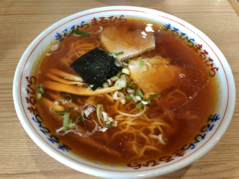 釧路のおいしいラーメン屋さん「まるひら」|定番メニュー「ラーメン(正油)」