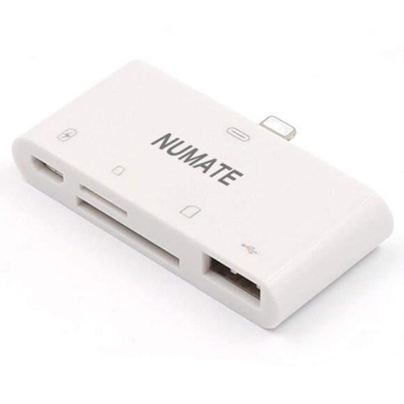 iPhone用おすすめSDカードリーダー&使い方まとめ|NUMATE「Lightning 4in1 マルチカードリーダー」が最もおすすめしたいSDカードリーダー。