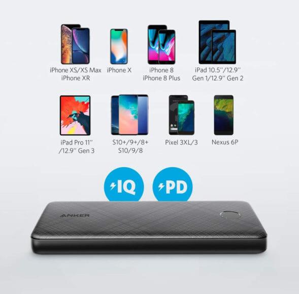 おすすめのモバイルバッテリーAnker「PowerCore Slim 10000 PD」レビュー|Apple製品への急速充電をはじめ、その他のUSB-C対応デバイスも充電することが可能です。