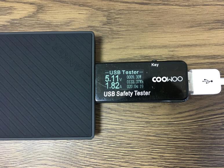 おすすめのモバイルバッテリーAnker「PowerCore Slim 10000 PD」レビュー|「PowerCore Slim 5000」USB-Aポートの充電時の電流・電圧を実測してみました。