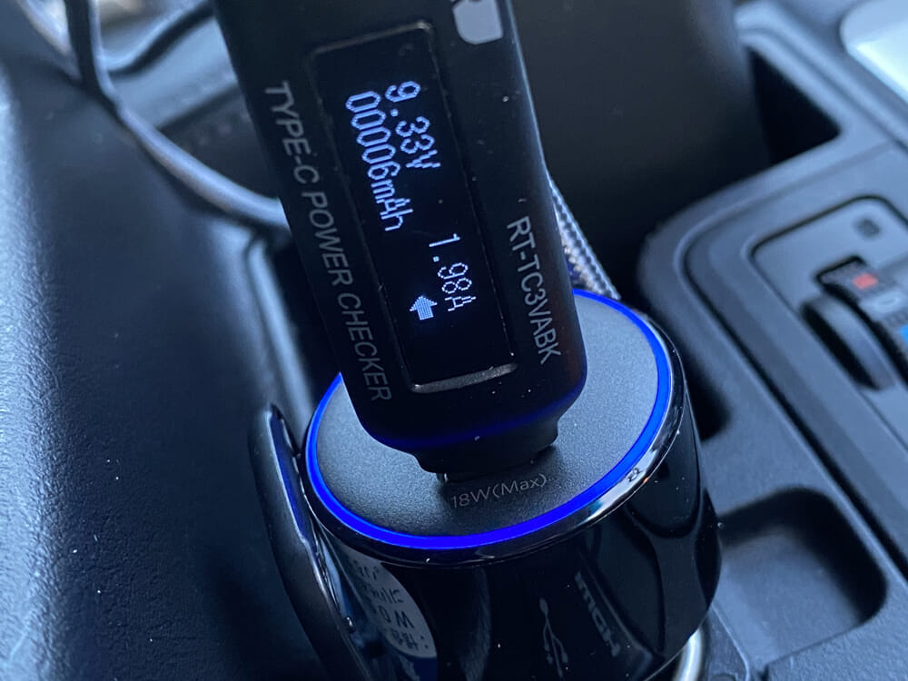 【Anker PowerDrive Speed+2-1 PD & 1 PowerIQ 2.0レビュー】車載充電器でシガーソケットをUSB Type-Cポート化!iPhone急速充電対応のおすすめカーチャージャー|2020年の新定番「PowerDrive+ III Duo」:一時理論値を上回るほどの出力を確認