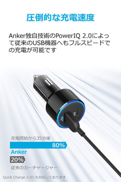 Anker「PowerDrive Speed+2-1 PD & 1 PowerIQ 2.0」レビュー|独自技術Power IQ 2.0でType-A充電も高速!