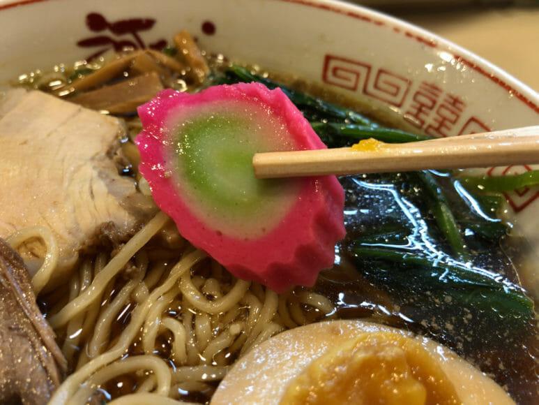 釧路のおいしいラーメン屋さん「河むら」|昔ながらの旨味を感じるナルト。