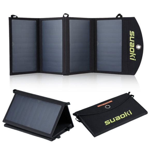 アウトドア向けおすすめソーラー充電器まとめ|suaoki「25W ソーラーチャージャー」