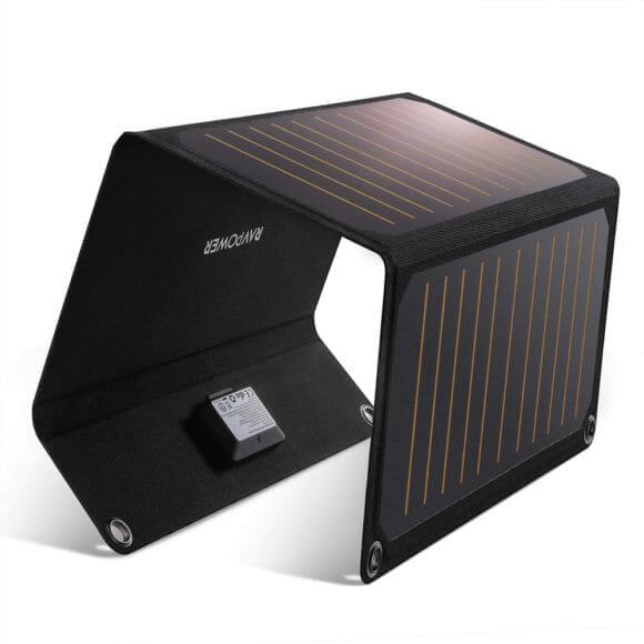 アウトドア向けおすすめソーラー充電器まとめ|RAVPower「RP-PC118」