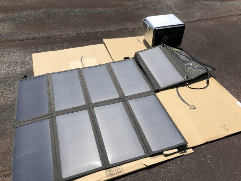ソーラー充電器suaoki・Anker 60W比較レビュー|suaoki「60W ソーラーチャージャー」を30分間DCケーブル接続でAnker「PowerHouse」を充電してみました。