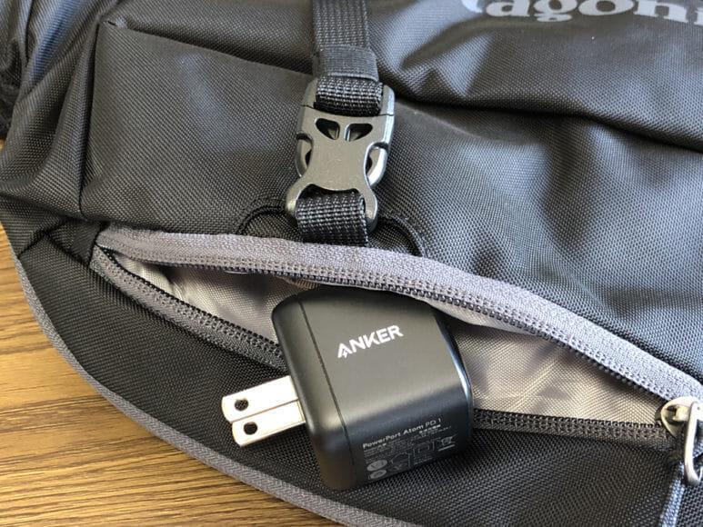 Anker PowerPort Atom PD1レビュー|これだけ小さいとカバンに余裕で忍ばせておけます。