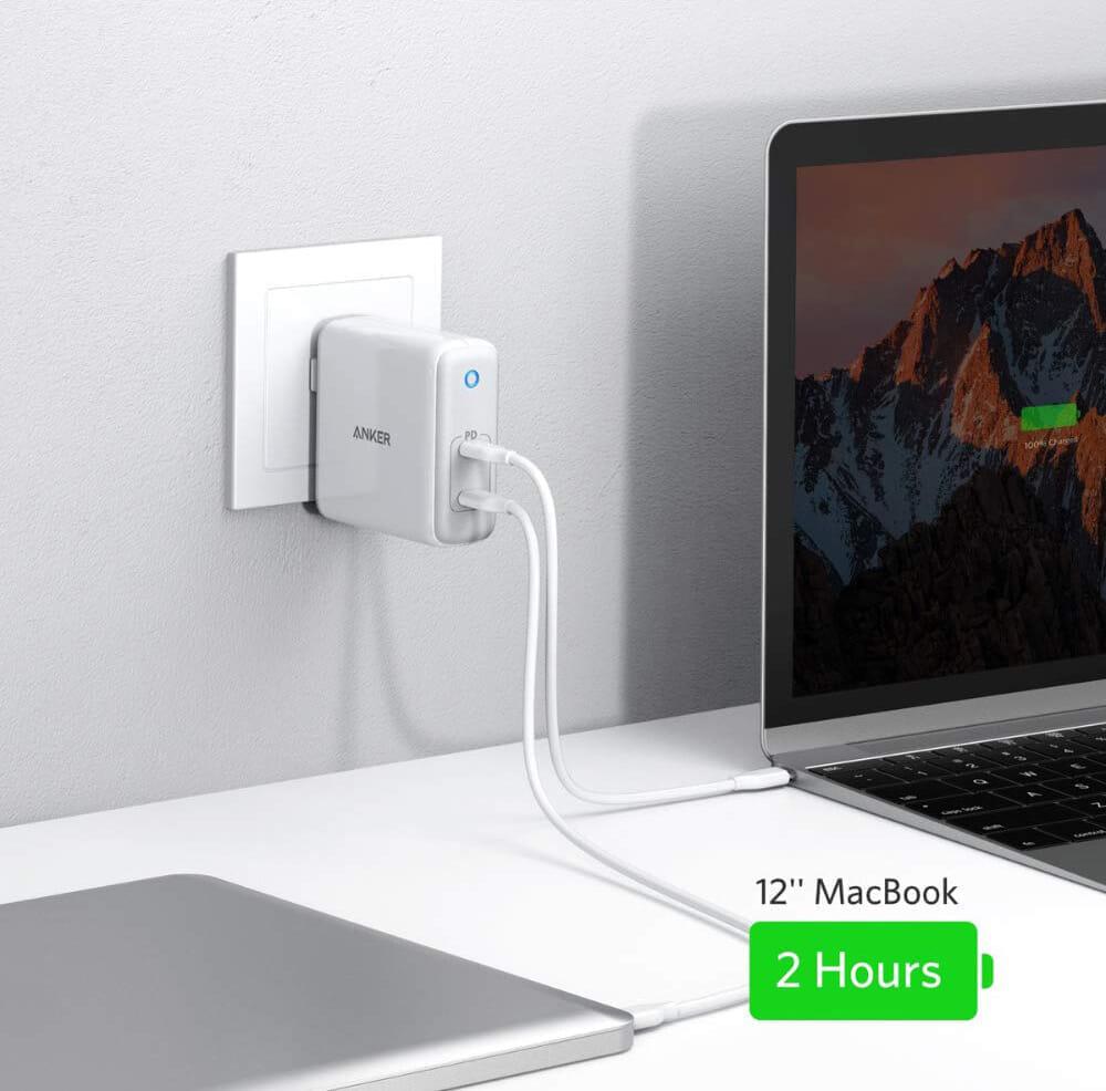 USB PD対応おすすめ小型急速充電器Anker「PowerPort Atom PD2」レビュー|もちろんPD対応だからiPhoneをはじめUSB-C対応デバイスなら急速充電が可能です。