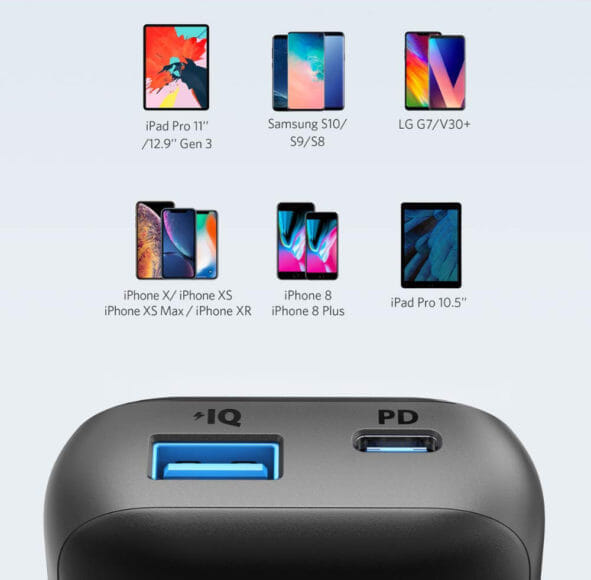 Anker PowerCore 10000 PD Reduxレビュー|またApple製品への急速充電はもちろん、その他のUSB-C対応デバイスも充電することができますよ。
