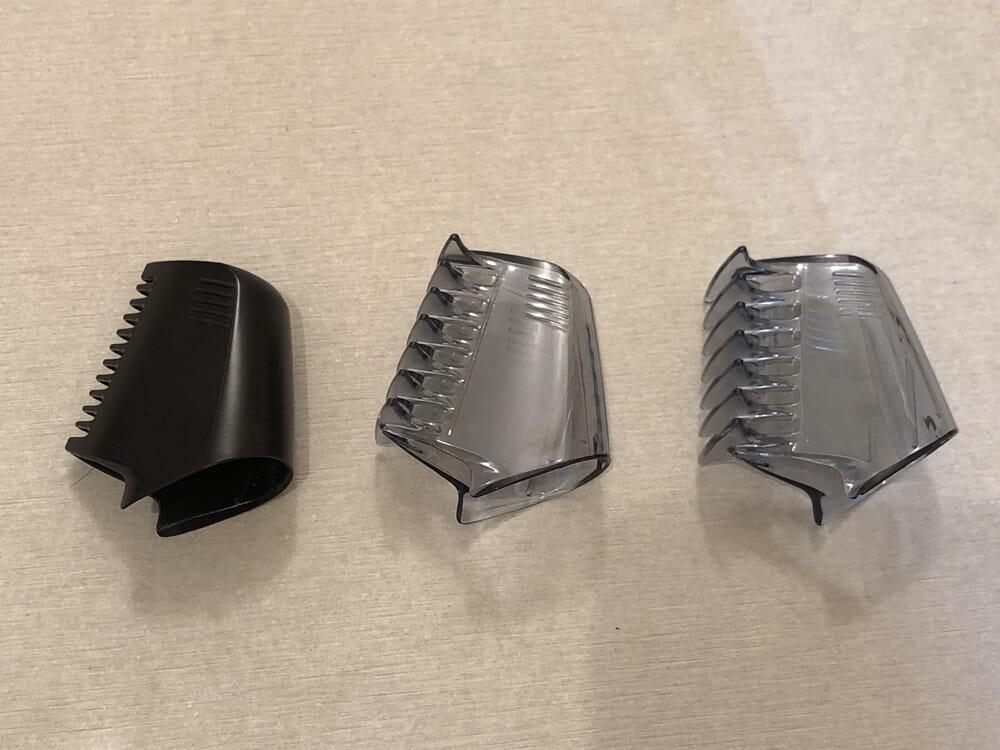 男のムダ毛処理におすすめのボディトリマーER-GK60レビュー|2・3・6mmの長さで剃り揃えられる「ER-GK60」の剃れ具合を、実際に見比べてみましょう。