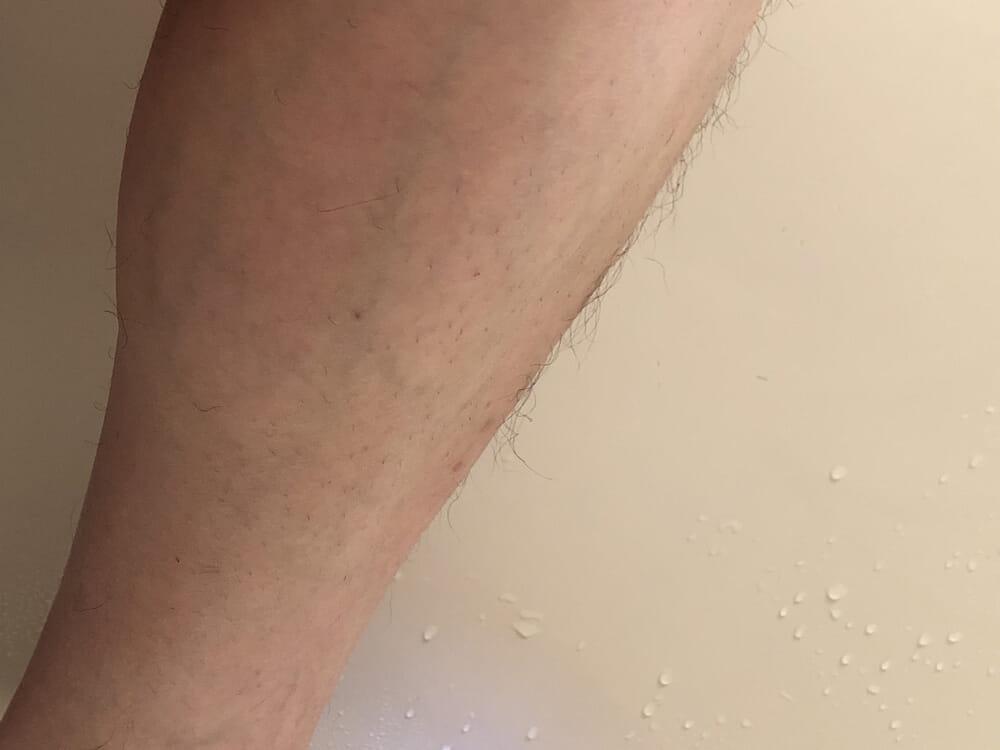 男のムダ毛処理におすすめのボディトリマーER-GK60レビュー|男のムダ毛処理におすすめのボディトリマーER-GK60レビュー|アタッチメント無しでグルーミングした状態。