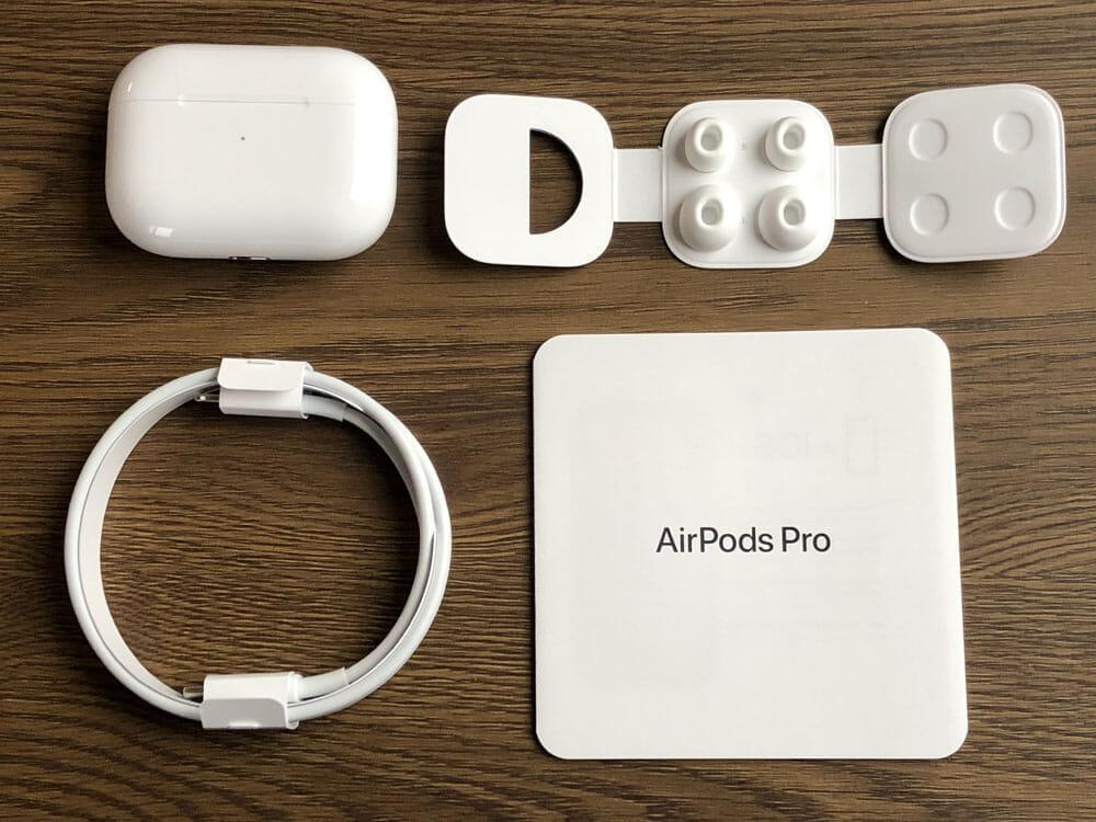 【AirPods Proレビュー】ノイズキャンセリング機能&防水性能搭載!カナル型・外部音取り込み機能など刷新された最強の完全ワイヤレスイヤホン最新型|付属品