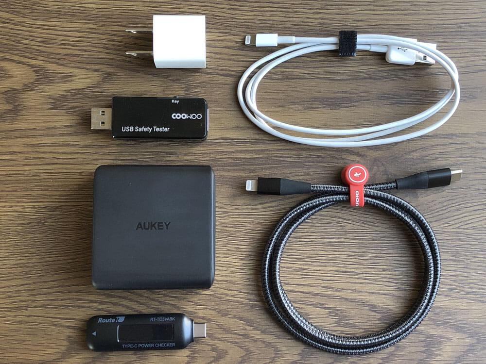 【Aukey PD対応急速充電器PA-D5レビュー】Anker Atom PD2より高コスパ!スマホ&PC二台持ちの方に最適なPD対応USB-Cポートを二つ搭載した急速充電器|使ってみて感じたこと:iPhone Xをバッテリー残量20%まで低下させた状態で30分間に渡って充電を行った結果を、iPhone付属の5WUSB電源アダプタの結果と比較してみました。それぞれ5回ずつ検証してみましたよ。