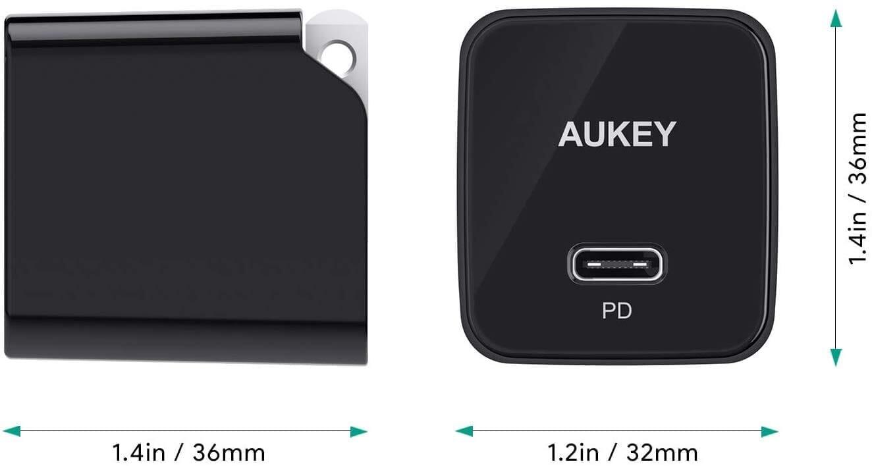 【Aukey PA-Y19レビュー】Ankerを上回るサイズと使い勝手!PD対応USB-Cポート搭載でスマホ・ノートPCを急速充電できる世界一コンパクトな急速充電器|優れているポイント:史上最高のコンパクトボディ