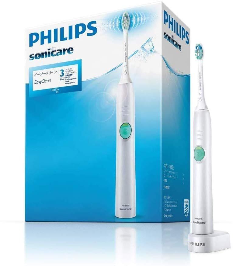 【フィリップス 電動歯ブラシ ソニッケアーレビュー】安いモデルでホワイトニング効果十分!おすすめはPhilipsイージークリーン|上位機種との比較や使い方も|製品の公式画像