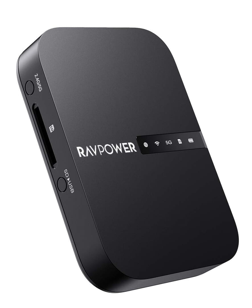 【RAVPower Filehub RP-WD009レビュー】スマホ写真&動画データを簡単バックアップ!無線でデータ共有もできるWi-Fi SDカードリーダー 旅行などに最適 製品公式画像