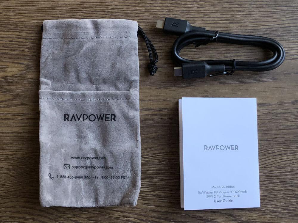 【RAVPower モバイルバッテリーRP-PB186レビュー】Anker競合製品を超える高出力・軽さ・価格!10000mAhクラス最強のモバイルバッテリー|付属品