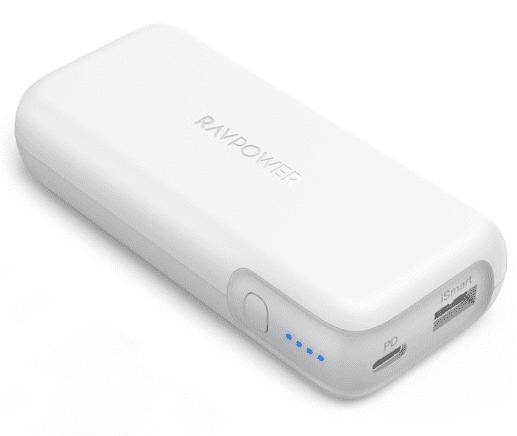 【RAVPower モバイルバッテリーRP-PB186レビュー】Anker競合製品を超える高出力・軽さ・価格!10000mAhクラス最強のモバイルバッテリー|外観:ちなみにホワイトの色展開もあります。