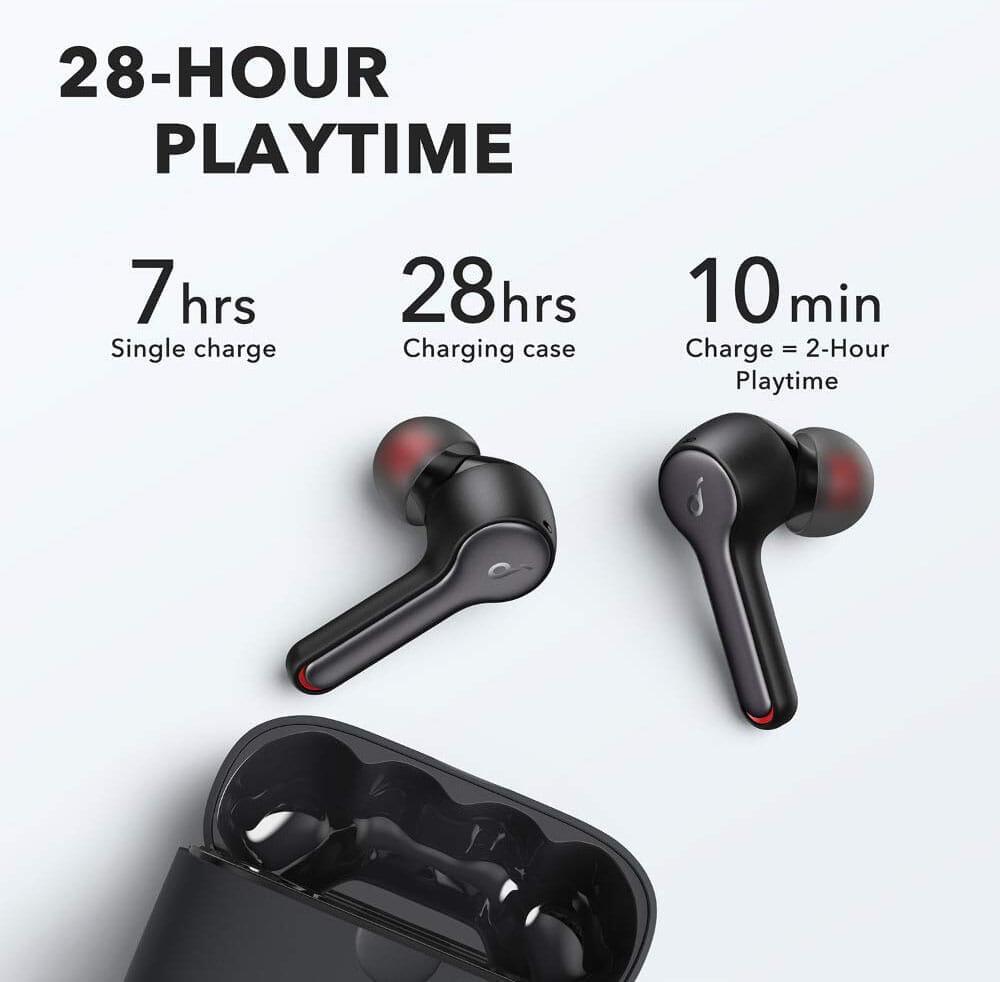【Anker Soundcore Liberty Air 2レビュー】Qiワイヤレス充電対応!7時間連続再生でタッチ操作のカスタマイズも魅力的な第二世代・完全ワイヤレスイヤホン|優れているポイント:イヤホン単体最大7時間連続再生可能なバッテリー性能