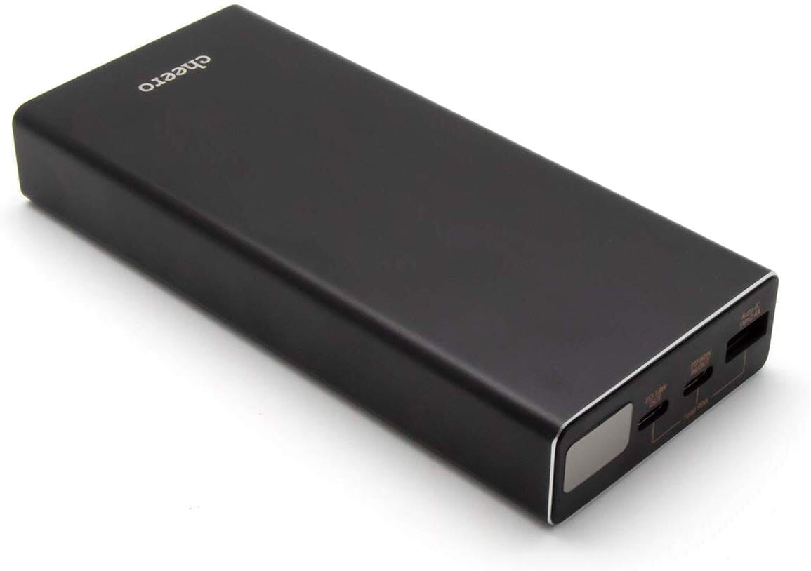 【cheero Power Plus 5 Premiumレビュー】60W高出力&20000mAh大容量バッテリーで3ポート同時充電!超高スペックなPD急速充電対応モバイルバッテリー|製品の公式画像