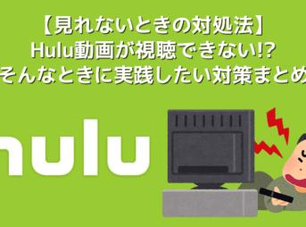 【Hulu見れないときの対処法】Hulu(フールー)動画が見れないときにチェックしたい確認事項まとめ|繋がらない・再生できない原因を網羅的に解説!