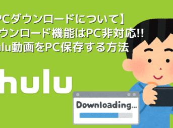 【Hulu動画のPCダウンロードについて】HuluはPCダウンロードできない?裏ワザでフールー動画をパソコンに落とす方法|公式ダウンロード機能についても解説