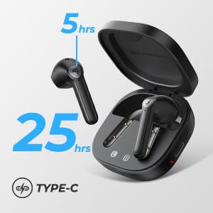 【SOUNDPEATS TrueAir2レビュー】14.2mm大口径ドライバーの圧倒的サウンドと新技術による安定接続が魅力のインナーイヤー型完全ワイヤレスイヤホン|優れているポイント:必要十分なバッテリー性能