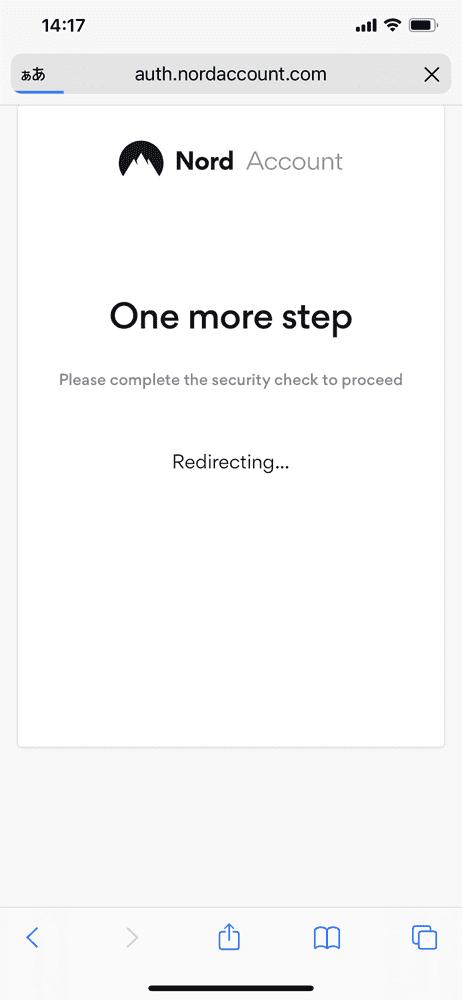 【NordVPNの登録方法】個人情報をハッキングから守るセキュリティサービス「NordVPN」の契約・登録方法|30日間は実質無料でお試し利用できる!|アカウントを有効化する:適切な画像を選択できたら「Redirecting ...」と表示されます。 これでNordVPNへの契約及び登録は完了です。