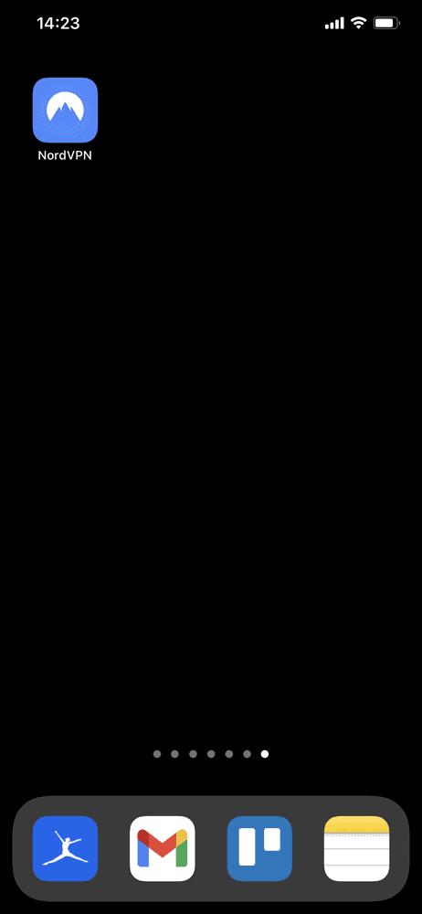 【NordVPNの登録方法】個人情報をハッキングから守るセキュリティサービス「NordVPN」の契約・登録方法|30日間は実質無料でお試し利用できる!|専用アプリをインストールする:iPhoneのホーム画面に「NordVPN」アプリのアイコンが表示されていたらOK、無事アプリをインストールできました。