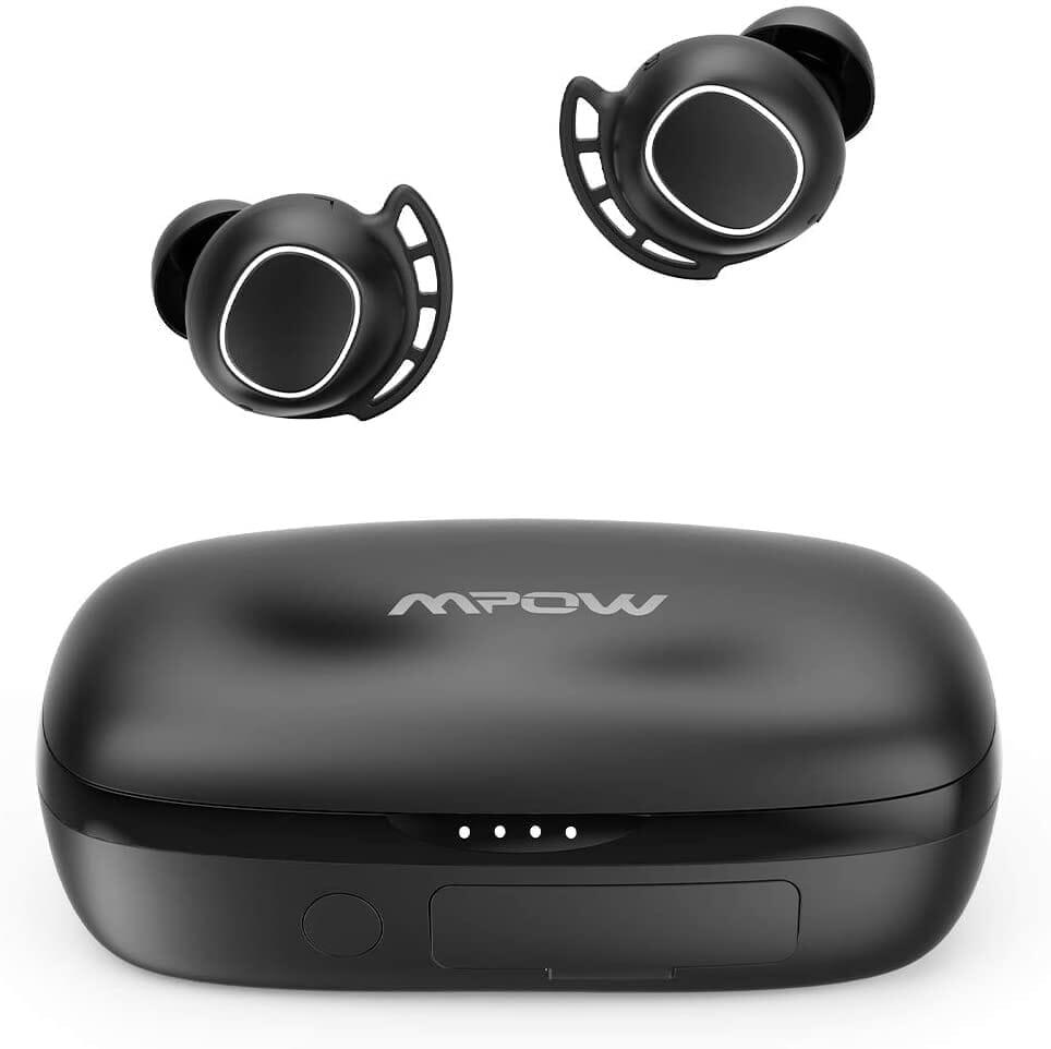 【Mpow M30 plusレビュー】ベストセラーモデルにバッテリー機能を追加!良好な装着感・音質をそのままにバッテリーとしても使える完全ワイヤレスイヤホン|製品の公式画像