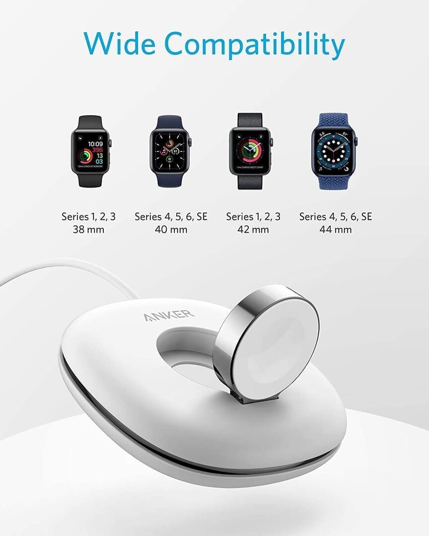 【Anker Apple Watchドック型磁気充電器レビュー】充電製品のパイオニアAnker製アップルウォッチ充電器が登場!幅広いシリーズ対応のMagnetic Charging Dock|製品の特徴:幅広いシリーズに対応