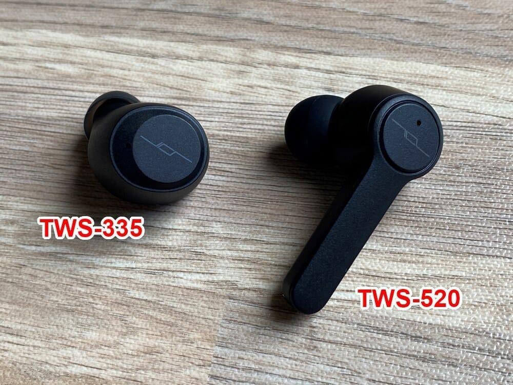 【JPRiDE TWS-335レビュー】常軌を逸した割安価格で必要十分なスペックを有したコスパモンスター完全ワイヤレス|ベストセラー機種TWS-520の性能を継承!|外観:「TWS-520」と比較すると、JPRiDEならではのデザイン系譜は受け継がれていますが、造形は完全に異質です。