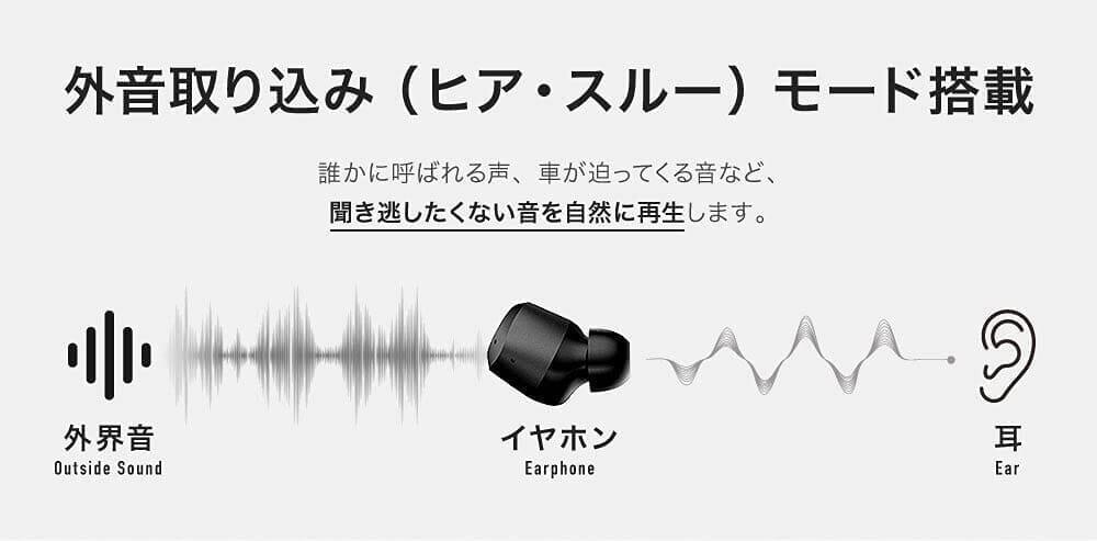 【JPRiDE TWS-5 ANCレビュー】AirPods Proに迫るノイキャン!?アンダー1万円最強のANC性能を誇る高性能TWS|12mmドライバー&最新通話ノイキャンも搭載|優れているポイント:周囲の音に注意を払える外音取り込み機能も搭載
