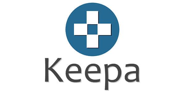 【Amazon価格チェックツールKeepaの使い方】完全無料の便利ツール!Amazon Price Tracker「Keepa」の使い方|価格推移を追跡して購入タイミングを逃さない!|Keepaのロゴ