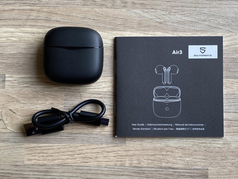 【SOUNDPEATS Air3レビュー】極小サイズ&超安定の無線接続が特徴的!大口径14.2mmドライバー搭載で音質も良好な高コスパ系完全ワイヤレスイヤホン 付属品